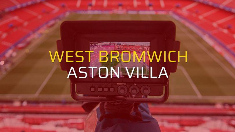 West Bromwich: 2 - Aston Villa: 2 (Maç sonucu)