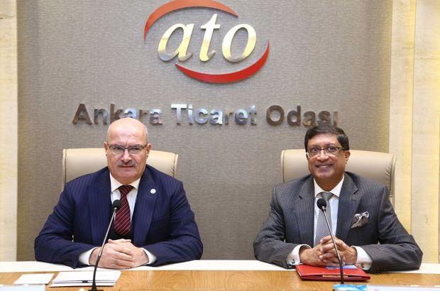 ATO Başkanı gürsel Baran ve Hindistan Büyükelçisi Sanjay Bhattacharyya