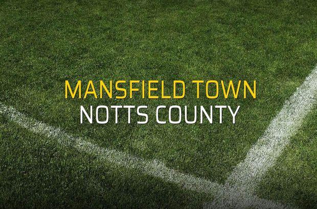 Maç sona erdi: Mansfield Town: 2 - Notts County:0