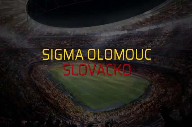 Sigma Olomouc: 1 - Slovacko: 0 (Maç sona erdi)