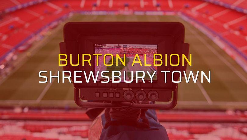 Burton Albion: 1 - Shrewsbury Town: 0 (Maç sonucu)