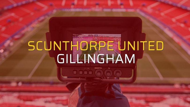 Maç sona erdi: Scunthorpe United: 0 - Gillingham:0