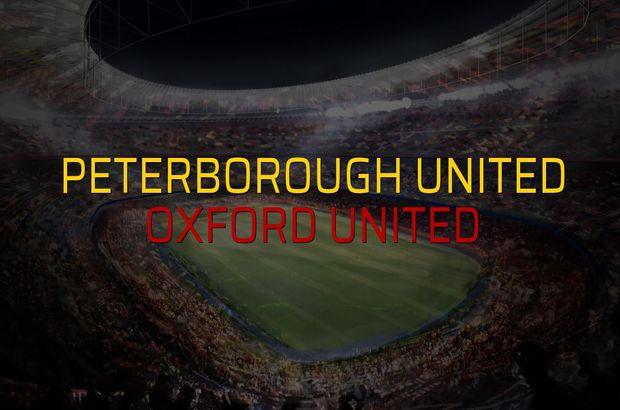 Peterborough United: 1 - Oxford United: 1 (Maç sonucu)