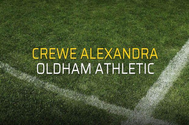 Crewe Alexandra: 0 - Oldham Athletic: 2 (Maç sona erdi)