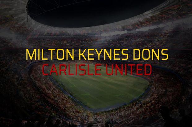 Milton Keynes Dons: 0 - Carlisle United: 0