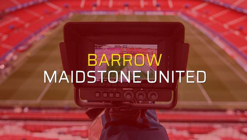 Barrow: 0 - Maidstone United: 0