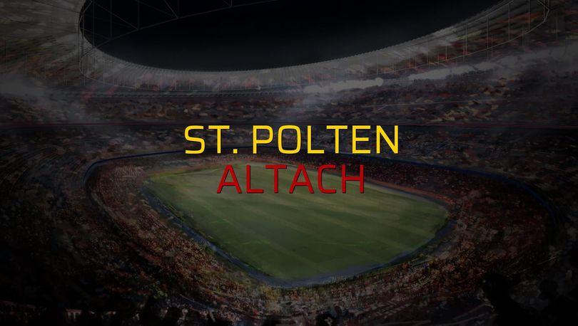 St. Polten: 2 - Altach: 0 (Maç sona erdi)