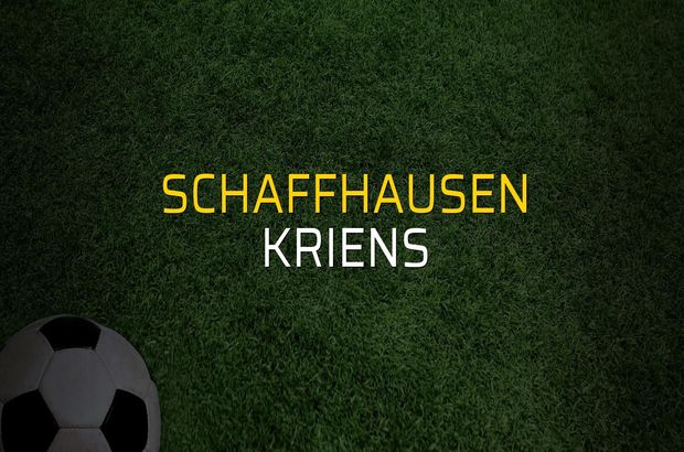 Maç sona erdi: Schaffhausen: 3 - Kriens:2