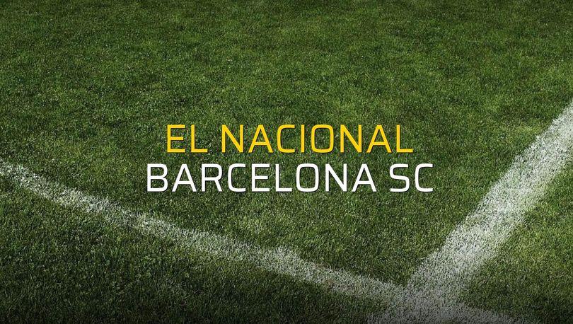 Maç sona erdi: El Nacional: 0 - Barcelona SC:0