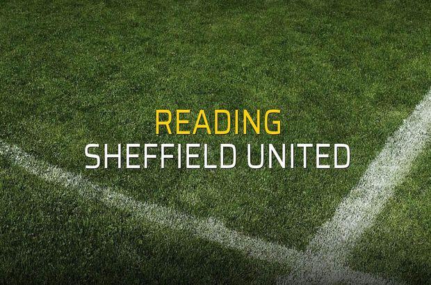 Maç sona erdi: Reading: 0 - Sheffield United:2