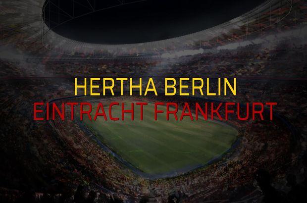 Maç sona erdi: Hertha Berlin: 1 - Eintracht Frankfurt:0