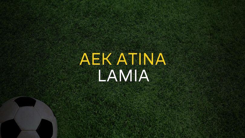 Maç sona erdi: AEK Atina: 1 - Lamia:0