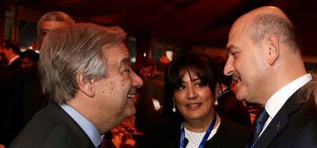 Soylu, BM Genel Sekreteri Guterres ile görüştü