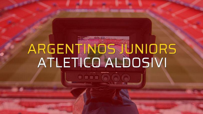 Argentinos Juniors: 1 - Atletico Aldosivi: 2 (Maç sona erdi)