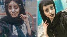 Tek amacı Angelina Jolie'ye benzemekti...