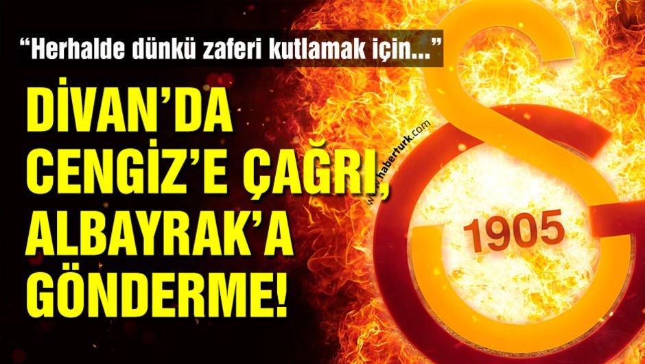 Divan Başkanı'ndan Cengiz ve Albayrak'a gönderme!