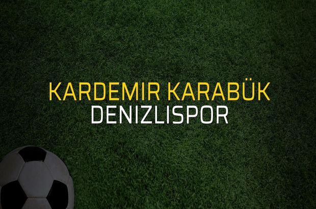 Kardemir Karabük: 2 - Denizlispor: 3