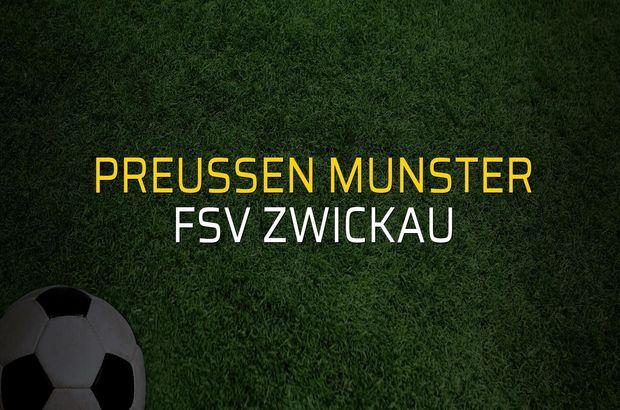 Preussen Munster: 0 - FSV Zwickau: 2 (Maç sonucu)