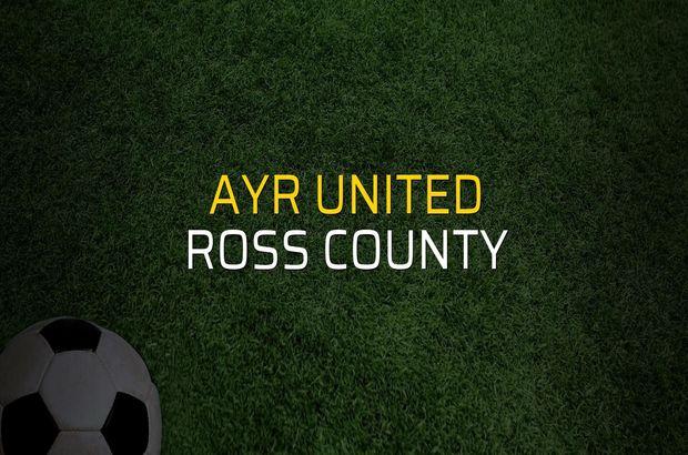 Maç sona erdi: Ayr United: 3 - Ross County:2