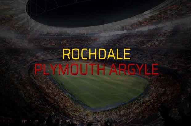 Maç sona erdi: Rochdale: 0 - Plymouth Argyle:0