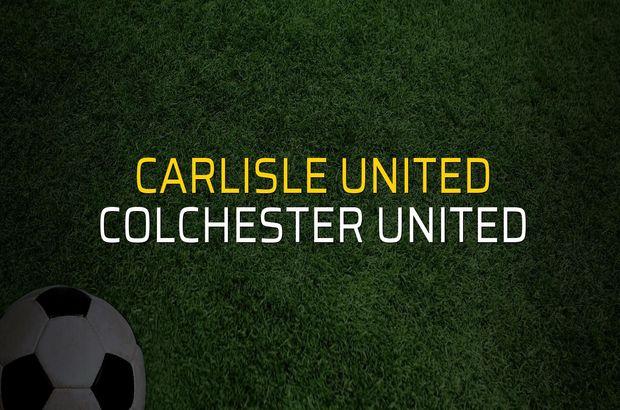 Carlisle United: 1 - Colchester United: 0