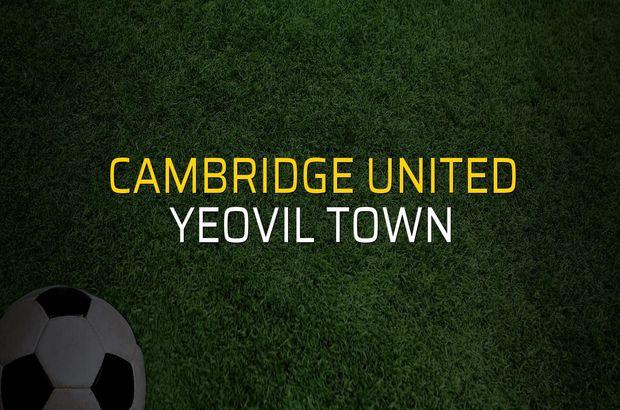 Cambridge United: 0 - Yeovil Town: 0 (Maç sona erdi)