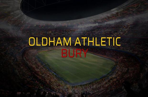 Oldham Athletic: 3 - Bury: 1