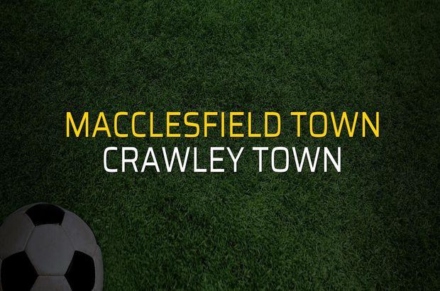 Macclesfield Town: 1 - Crawley Town: 0 (Maç sona erdi)