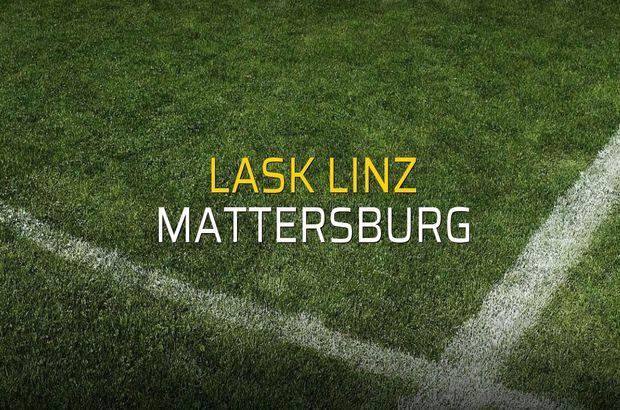 Lask Linz: 2 - Mattersburg: 1 (Maç sonucu)