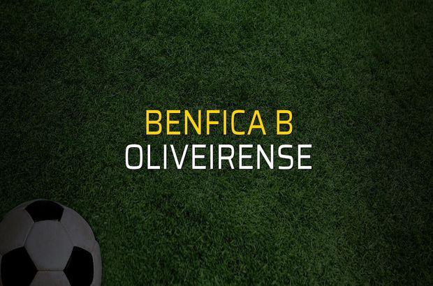 Benfica B: 3 - Oliveirense: 0 (Maç sona erdi)