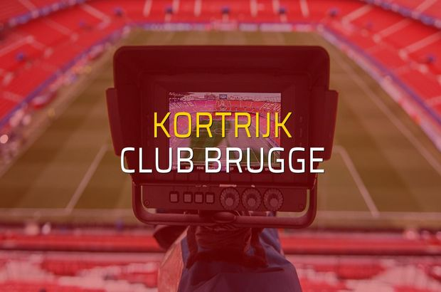 Maç sona erdi: Kortrijk: 0 - Club Brugge:0