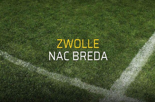 Maç sona erdi: Zwolle: 0 - Nac Breda:0