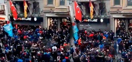 Trabzonsporlu taraftarlar, GS Store'a saldırdı!