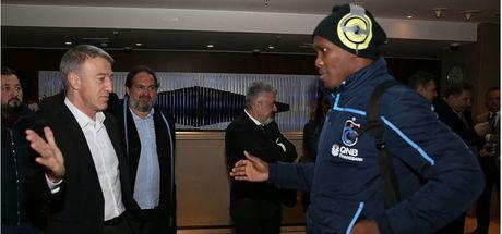 Trabzonspor Başkanı Ağaoğlu'dan takıma ziyaret