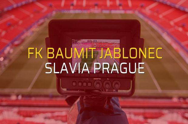FK Baumit Jablonec: 0 - Slavia Prague: 2 (Maç sona erdi)