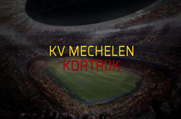 KV Mechelen - Kortrijk maçı rakamları