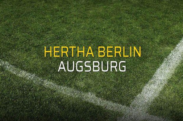 Hertha Berlin - Augsburg rakamlar