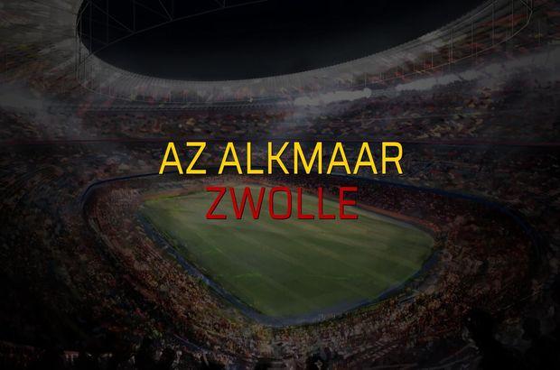 Az Alkmaar - Zwolle karşılaşma önü