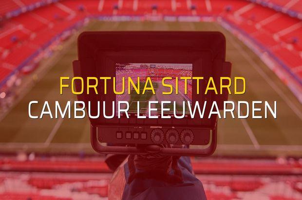 Fortuna Sittard - Cambuur Leeuwarden maçı heyecanı