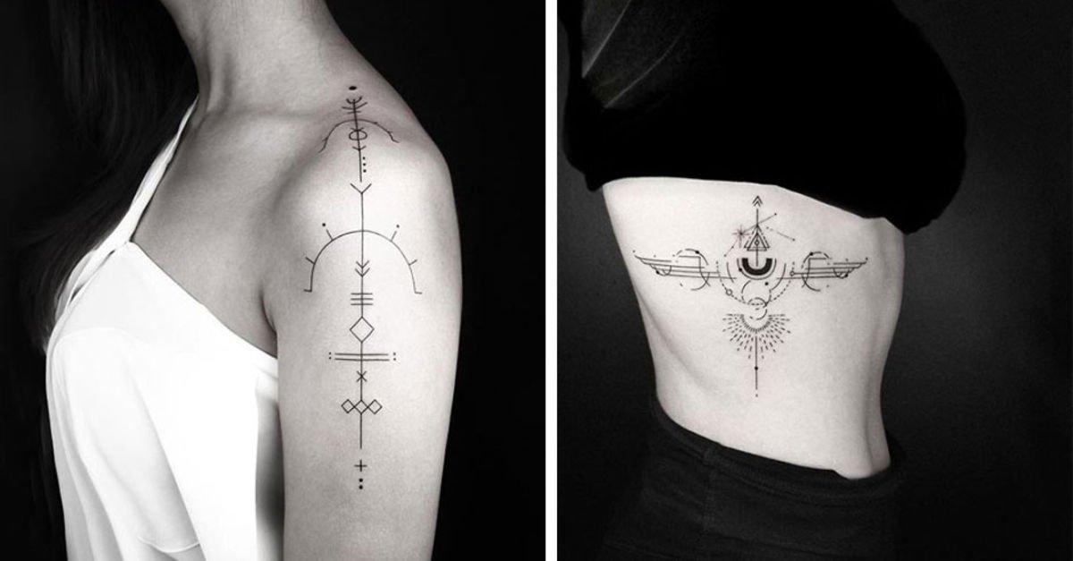 Birbirinden güzel geometrik dövme modelleri!