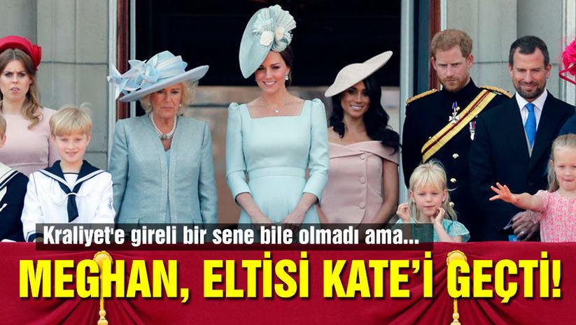 Meghan eltisi Kate'i geçti!