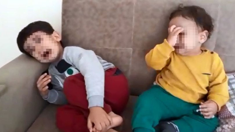 Kocası terk etti diye çocuklarını dövüp kameraya çekti!