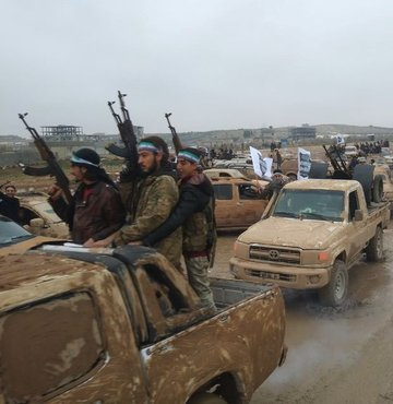 Özgür Suriye Ordusu bileşenlerinden Şam Cephesi tarafından yapılan açıklamada, Fransa