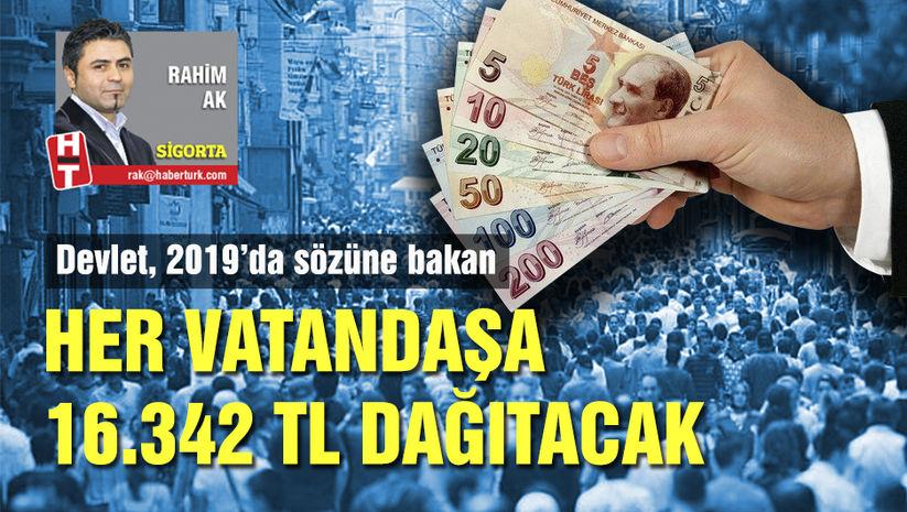 Devletin sözüne bakan her vatandaşa 16.342 lira