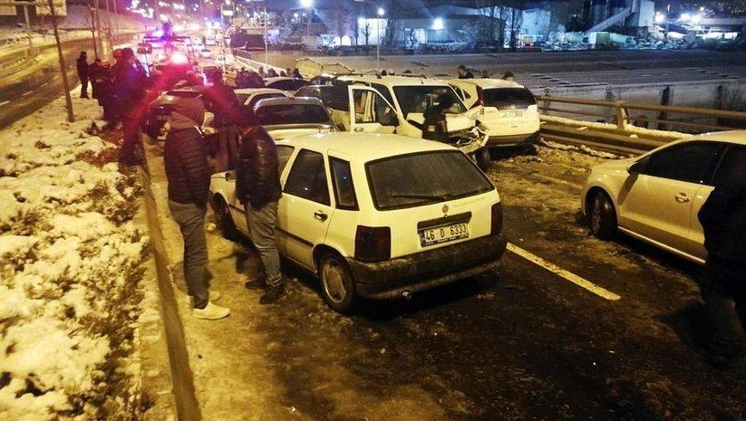 Başkentte 25 araç birbirine girdi! 9 kişi yaralandı