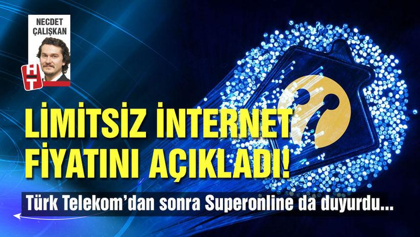 Limitsiz internet paketi fiyatlarını duyurdu