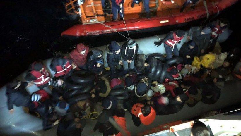 İzmir'de 109 kaçak göçmen yakalandı