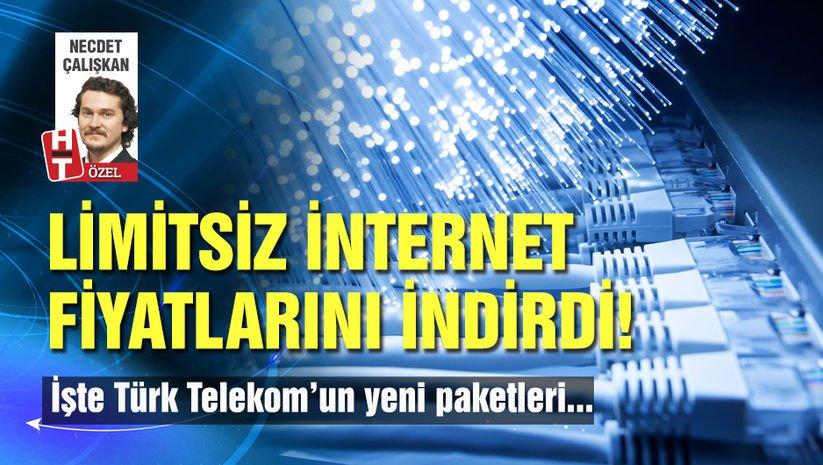 Türk Telekom limitsiz internet fiyatlarını indirdi!