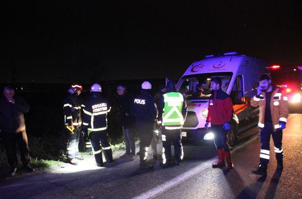 TEM'de feci kaza! Otomobil metrelerce aşağı uçtu! 2'si çocuk 6 yaralı
