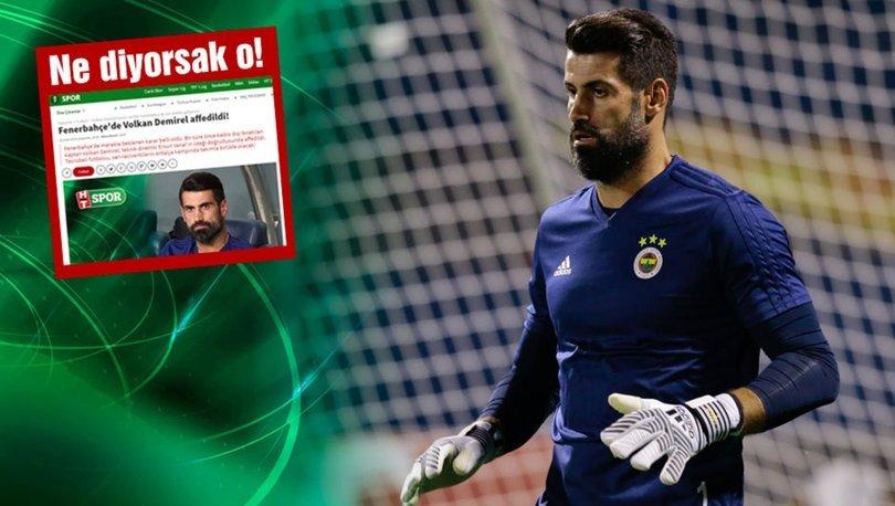 SON DAKİKA! Volkan Demirel resmen affedildi! Fenerbahçe'den açıklama...